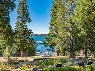 Photo for Lakefront house & guest house steps from village. Private beach, SUP and Kayak