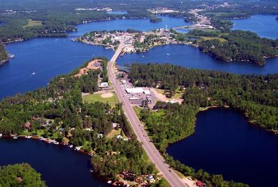 In the heart of the island city of Minocqua, a short walk from downtown