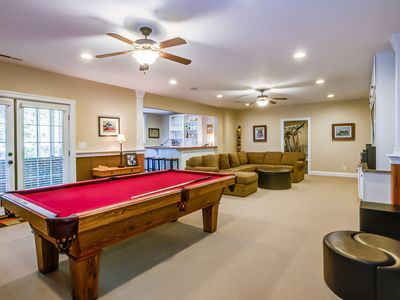 Photo for Great home for large groups, 5 BR/3BA, GYM, Billiards, Hot Tub, Sleeps 16