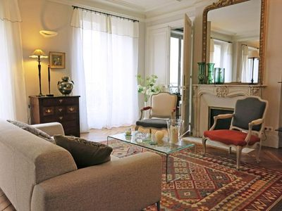 Photo for Spacious Le Bon Marche Cherche-Midi apartment in 06ème - St Germain des Prés with WiFi, balcony & l…