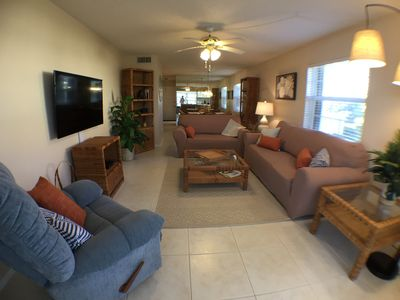 Photo for 2BR/2BA Vero Beach Condo 55+ Community on Golf Course