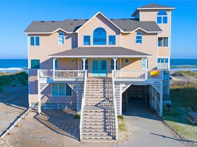 Peaceful Oceanfront Escape, Rodanthe- Pool, Hot Tub, Game Rm, Boardwalk to Beach