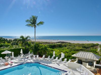 Photo for Cozy beachfront condo w/ heated pool, hot tub & an amazing ocean view