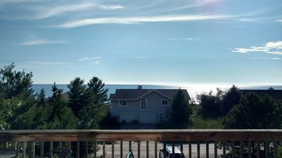 Beautiful lake view from the front deck and living room