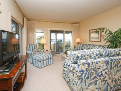 Photo for Beachfront condo w/ a large, furnished balcony, great views, & a shared pool