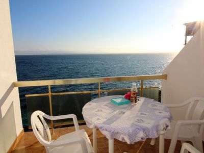 Photo for Study-cabin with a magnificent view of the bay of Roses and a very sunny terrace will allo