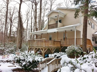 Winter time at Creekside Hideaway II.
