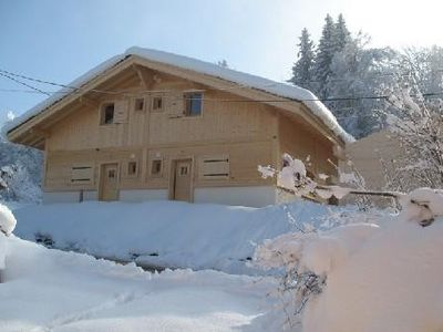 Photo for Marvellous Savoyard style new chalet, close to the slopes