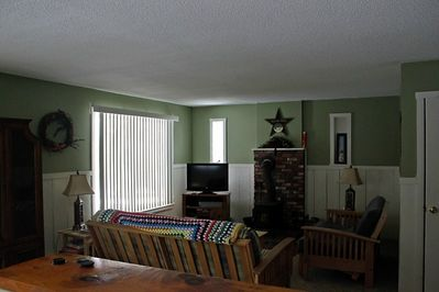 Living room with two futons for additional guests.