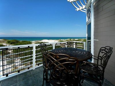 Balcony View - Compass Point I, 408 - Watersound, FL - Balcony off of living, dining, master bedroom area