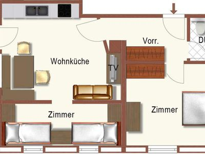 Photo for Apartment Hornblick with 2 bedrooms - Guggenhof