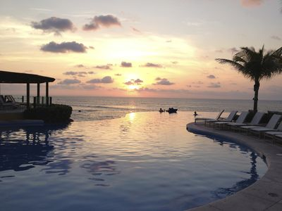 Sunset at the Nuna pool; a magical time of day