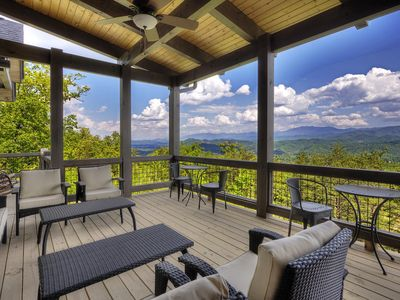 Photo for Brand NEW!  BREATH-TAKING Views !Rustic Modern Mountain Luxury.Handicap Friendly