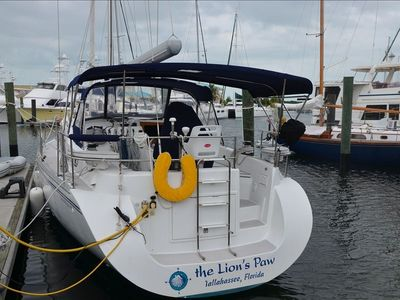 The Lion's Paw is moored on the oceanside offering great breezes
