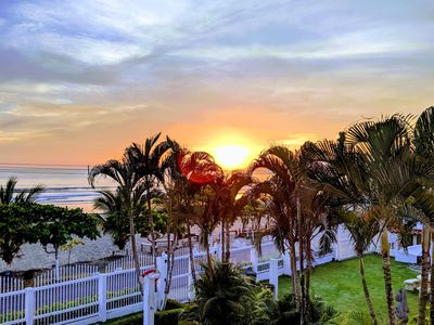 Photo for Oceanfront condo w/ ocean views, shared pool & balcony - walk to the beach!