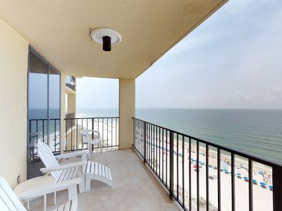 Photo for Sunny condo w/ amazing views, shared pool & hot tub - steps from the beach