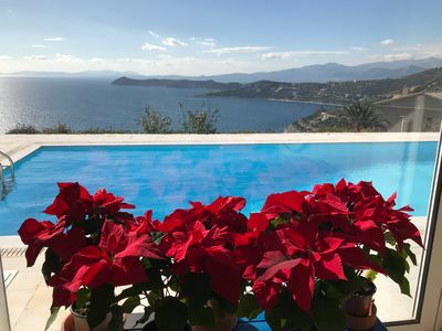 Photo for Anemolia Luxury Villa with private pool and amazing sea view