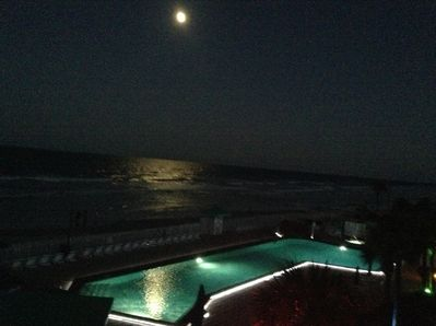 Full Moon over looking pool your view from balcony