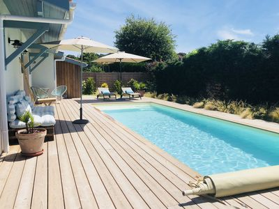 Photo for Beautiful house on the Bassin d'Arcachon with private pool
