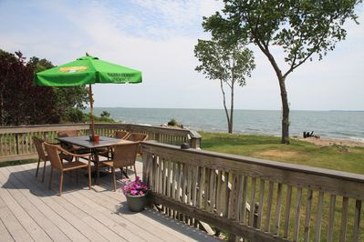 View from deck looking at Pelee Island (Canada)