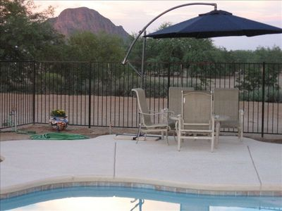 A shady place to relax & enjoy the Tucson Mountain
