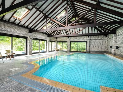 Photo for Popular family friendly cottages, heated indoor pool and tennis court