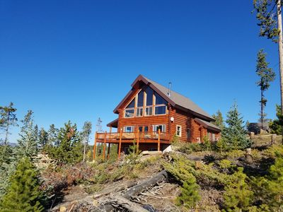 Photo for Top Of The Mountain Log Home with BREATHTAKING VIEWS