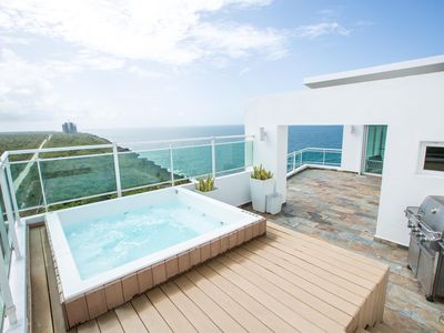 Photo for ⭐Ocean View Penthouse W/ Private Jacuzzi and BBQ⭐