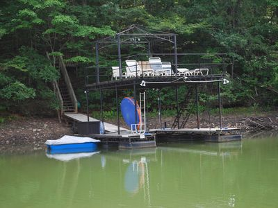 Photo for Quaint Wooded Lakehouse w/Dock! 2 King Beds! Great for Families! Screened Porch!