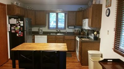 Newly remodeled  kitchen with new counter tops ,