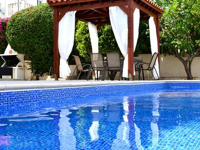 Photo for Charming Villa private Pool Wifi BBQ Restaurants and amenities 100m Beach nearby