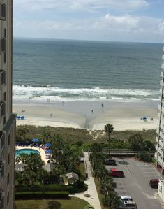 Unobstructed view of the beach from the balcony!