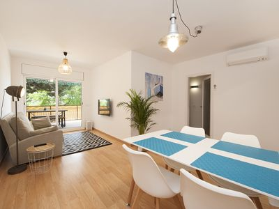 Photo for Cozy beachfront apartment in Castelldefels