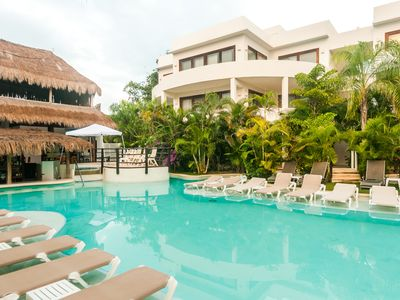 Photo for Swim Up Luxury 1 Bedroom Apartment -  Tulum