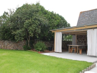 Photo for Village house 15 minutes from the sea, terrace and garden.