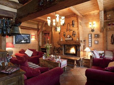 Photo for La Plagne Montalbert, luxury chalet on the slopes,50 meters from lift.