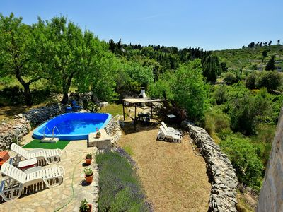 Photo for This 2-bedroom villa for up to 4 guests is located in Hvar Island and has a private swimming pool an