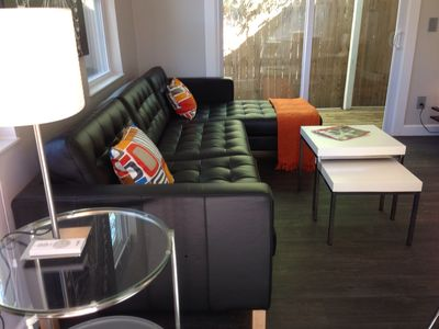 Furnished with all modern sleek looking furnitures (all wood & tiles flooring)