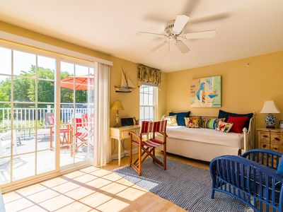 Photo for Enjoy nearby Goose Rocks Beach in a cheery condo with sunny 250 SF deck