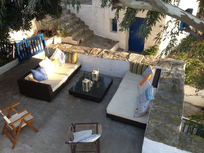 Photo for Shady, Secret Hideway on glorious undiscovered Andros