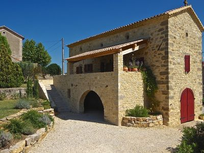 Photo for Traditional stone farm-house near Vallon Pont d'Arc
