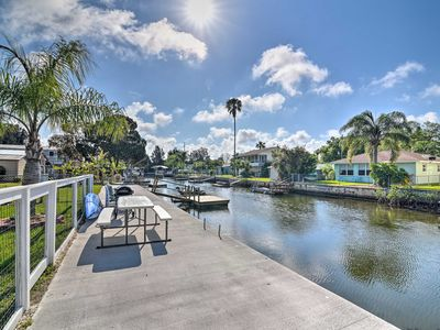 Photo for NEW! Hudson Canal-Side Cottage, Right on the Gulf!