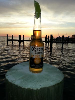 A Corona at Sunset - could be worse....
