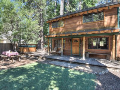 Photo for Inviting Tahoe Cabin with Fenced Yard, Hot Tub -Cub Cabin