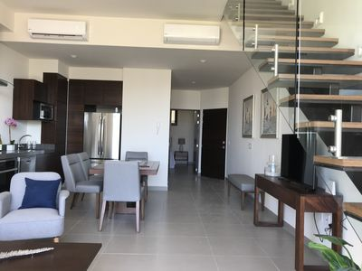 Photo for NEW Luxury Loft 1 bedroom with private roof garden and Side view of the marina