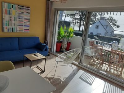 Photo for Sea view apartment 50 m from Beaumer beach