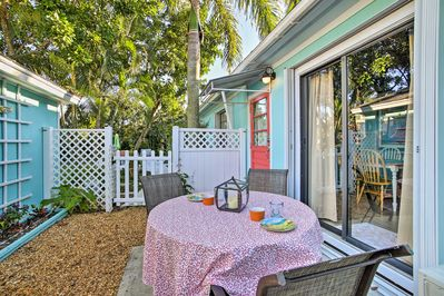 Relax out on the patio and enjoy the ocean breezes
