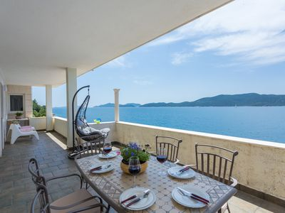 Photo for Villa Natasha is on seafront and has a private beach, just 25 km from Dubrovnik