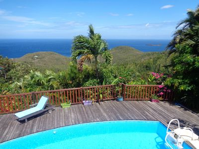 Photo for Villa Fleur de Lune swimming pool Caribbean sea view Bouillante