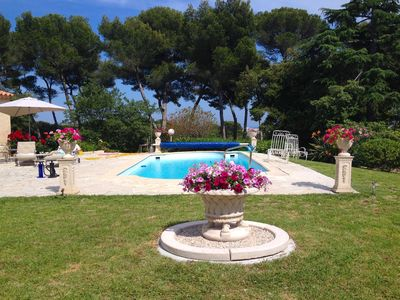 Photo for Antibes Holiday Villa with Pool sleeps 6